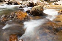 Woda spadków kaskada na Tropikalnym lesie Zdjęcia Stock
