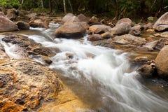 Woda spadków kaskada na Tropikalnym lesie Zdjęcie Royalty Free