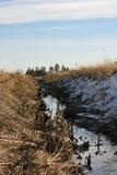 Woda w polu Obrazy Royalty Free