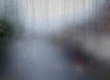 Woda wzory na okno Zdjęcie Stock