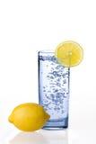Woda z cytryną Fotografia Royalty Free