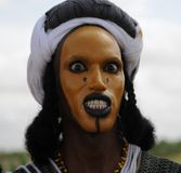 Wodaabe man dancing the Yaake, Niger Royalty Free Stock Photo