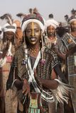 Wodaabe man at Gerewol, Cure Salee, Niger Royalty Free Stock Image