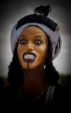 Wodaabe man at Gerewol, Cure Salee, Niger Stock Photo