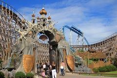 Wodan wooden roller coaster gateway Royalty Free Stock Photo
