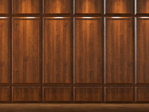 Wodd cladding background. Interior background of wood cladding wall Stock Images