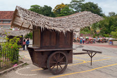 Wodden cart at Portuguese fort A Famosa, Porta de Santiago. Mala Stock Photo