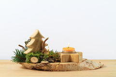 Wodden Christmas Arrangement Stock Photos