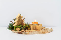 Wodden Christmas Arrangement Royalty Free Stock Photo