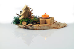 Wodden Christmas Arrangement Royalty Free Stock Photography