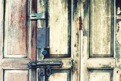 Wodden door. Royalty Free Stock Images