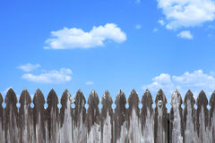 Wodden Fence with Clouds Stock Images