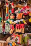 Wodden-Marionetten og Pinocchio Stockfotografie