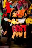 Wodden-Marionetten og Pinocchio Stockfoto