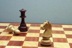Wodden-Schachzahlen Stockbild