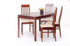 Wodden table and chairs Royalty Free Stock Images