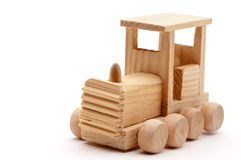 A wodden toy train Royalty Free Stock Photo