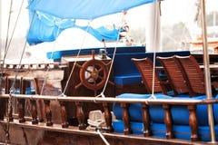Wodden-vitange Yachtdetail Stockfotografie