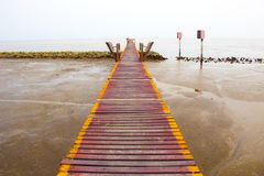 Wodden walkway Royalty Free Stock Images