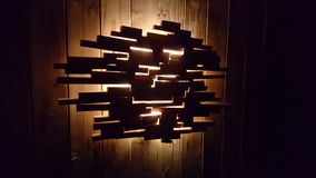 Woddenlamp стоковое изображение