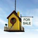Woden bird house for sale Royalty Free Stock Images