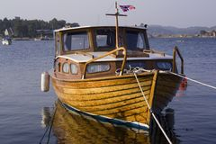 Woden boat Stock Photos