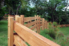 Woden fence royalty free stock photo