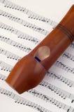 Woden flute Stock Photos