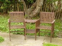 Woden garden chairs Royalty Free Stock Photos