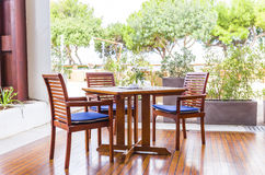 Woden garden furniture Royalty Free Stock Photo