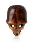 Woden skull Stock Image