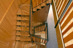 Woden staircase Royalty Free Stock Photos