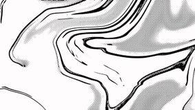 Woderfull black&white可笑的抽象poitalism艺术背景例证 免版税库存照片