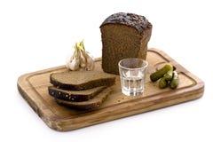 Wodka en snack stock foto