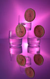 Wodka met citroen Royalty-vrije Stock Foto