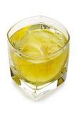 Wodka met ijs en citroen Stock Afbeeldingen
