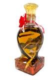 Wodka met slang in een fles Royalty-vrije Stock Foto's