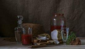 Wodka mit Tomatensaft Lizenzfreie Stockbilder