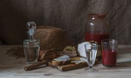 Wodka mit Tomatensaft Stockfotos