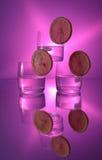 Wodka mit Zitrone Lizenzfreies Stockfoto