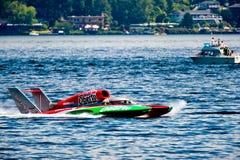 Wodna biegowa łódź Obrazy Royalty Free