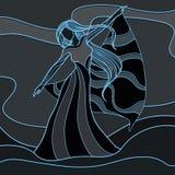 Wodna dziewczyna ilustracji