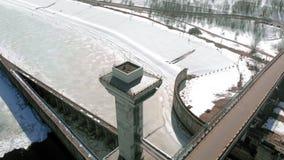 Wodna elektrownia, powietrzny kr?tkop?d zdjęcie wideo