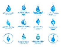 Wodna etykietka, ikony i projektów elementy, Fotografia Royalty Free