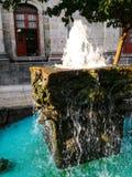 Wodna fontanna blisko Teatro Degollado fotografia royalty free