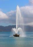 Wodna fontanna przy Orientalną paradą, Wellington, NZ. Fotografia Royalty Free