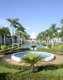 Wodna fontanna przy tropikalnym kurortem Obraz Stock