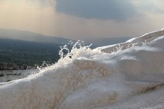 Wodna fontanna w Pamukkale Hieropolis Zdjęcia Stock