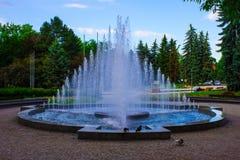 Wodna fontanna w parku Zdjęcie Stock