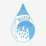Wodna ikona, abstrakcjonistyczny logo spokojnie redaguje projekt elementów wektora ilustracji